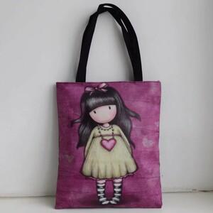 レディース バッグ bag トートバッグ アート 女の子 キャンバスバッグ ショッピングバッグ エコバッグ 収納 ゴスロリ