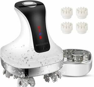 電動頭皮ブラシ IPX7防水 乾湿両用 USB充電台座 電動ブラシ 日本4D技術 頭皮マッサージ器 マッサージャー