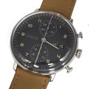 ユンハンス JUNGHANS マックスビル クロノスコープ 027/4501.01 自動巻き メンズ 腕時計 中古