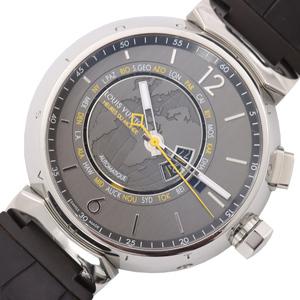 ルイ・ヴィトン LOUIS VUITTON タンブール ワールドタイマー Q1055 自動巻き メンズ 腕時計 中古
