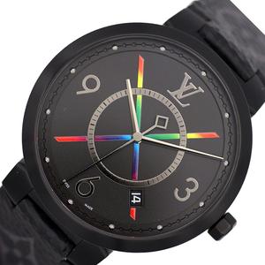ルイ・ヴィトン LOUIS VUITTON タンブール スリム レインボー39 QA113Z 腕時計 メンズ 中古