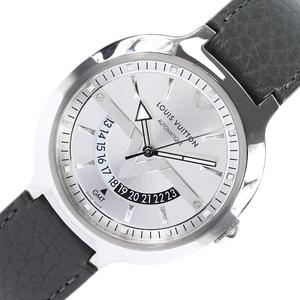 ルイ・ヴィトン LOUIS VUITTON ヴォヤジャー GMT Q7D34 自動巻き メンズ 腕時計 中古