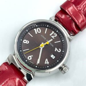 ルイ・ヴィトン LOUIS VUITTON タンブール Q1211 ブラウン 腕時計 レディース 中古
