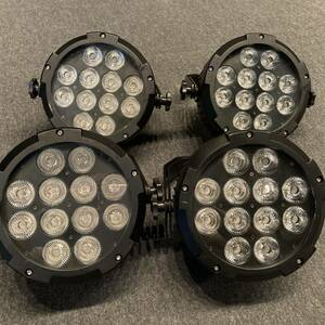 4台セット LEDパーライト 6in1(RGBWA+UV) DMX操作可能 バラ売り可 par light 舞台照明 送料無料