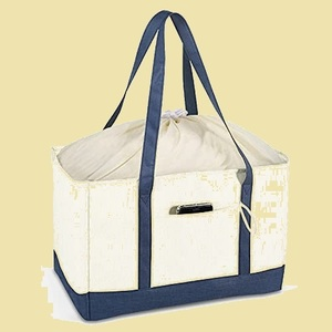 ラスト1点 新品 巾着レジかご エコバッグ C-W8 防水素材 ショッピングバッグ 折りたたみ保冷 大容量 かいものかごバック 保温