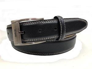 PARIS monsieur/パリス ホワイトステッチ 牛革 メンズ紳士レザーベルト ブラック PS-3BK PS3BK