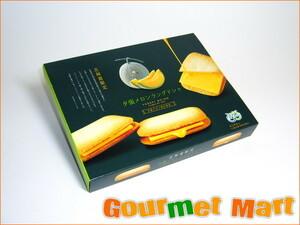 【北海道グルメマート】北海道限定品 夕張メロン果汁使用 夕張メロンラングドシャ 10枚入