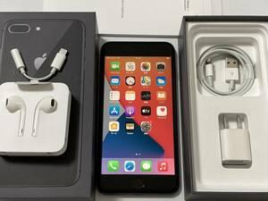 SIMフリー iPhone8 Plus 64GB Space Gray シムフリー アイフォン8 プラス 黒 スペースグレイ docomo softbank au ドコモ ソフトバンク 本体