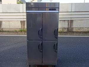 動作良好※◆フクシマ 縦型4ドア冷蔵庫 900x800/三相200V◆URD-30RMTA1◆ta103