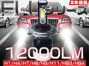 粗悪品にご注意 LEDヘッドライト 180°調整 革命商品 12000lm 最新FLLシリーズ H4 H1 H7 H8 H11 H16 HB3 HB4 2年保証 送料込 2個V2