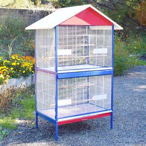 2部屋式 大型鳥かご オウム ヨウム 大型インコ用 バードゲージ  鳥籠