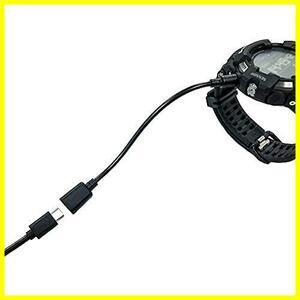 マグネット 充電 変換 アダプター ケーブル microUSB メス(10cm) for G-SQUAD PRO GSW-H1000 / PRO TREK Smart WSD-F30 / WSD-F21HR /