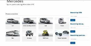メルセデスベンツ EPC パーツリスト オンライン版 パーツマニュアル w460 w461 w463 unimog Truck Bus