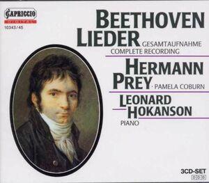 輸入3discs CD Beethoven, Prey, Coburn; Hokanson Lieder 1034345 /00330
