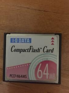 64MB コンパクトフラッシュカード Compact Flash Card (CFカード) I/O DATA製 注意!M(メガ)です。G(ギガ)とお間違いない様に!
