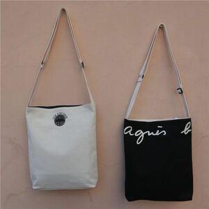 新品 agnes b. アニエスベー リバーシブルトートバッグ 黒×白両面タイプ