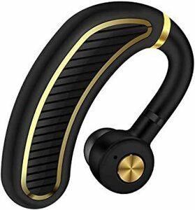 新品HCブラックゴールド 【2020最新進化版】BluetoothワイヤレスMD-Q6イヤホン 日本語音声ヘッドセットV4.1片