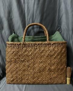 白川郷 新色 最大級 幅40cm 最高級品 国産蔓使用 匠の技 網代編み 山葡萄カゴバッグ