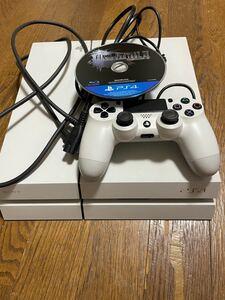 【美品】SONY PS4 CUH-1100A ホワイト +ファイナルファンタジーXV