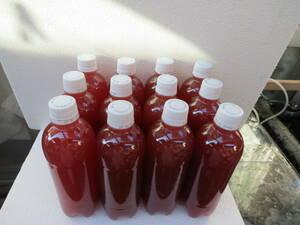 送料無料☆超濃縮PSB光合成細菌☆ 使い易い硬めの500mlペットボトルに詰めました。12本合計6㍑   (PS12)