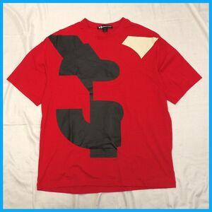 ●美品 Y-3/ワイスリー U VARSITY 半袖Tシャツ メンズM/レッド/コットン100%/クルーネック/FJ0333/アディダス/ヨウジヤマモト#1577903709