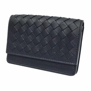 BOTTEGA VENETA ボッテガヴェネタ イントレチャート 名刺入れ カードケース 174646 V001N 1000 レザー ブラック 黒 財布小物 aq5052