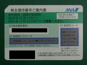 【株主優待券】ANA 2021年11月30日まで ナビでのパスワード通知可能 数量4あり