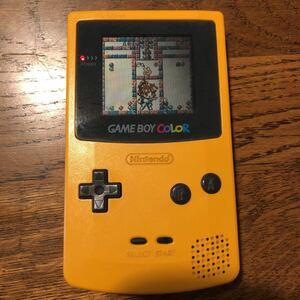 Nintendo 旧世代ゲーム機本体 ケームホーイホケット イエロー ジャンク