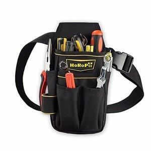 ★2時間限定★〇黒 HoRoPii プロ職人 匠仕様 作業用 工具袋 腰袋 ウエストバッグ ベルト 付き 多様性バージョン ホル