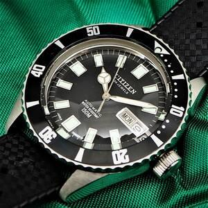 デッドストック品! CITIZEN シチズン レオパール ダイバー 4-722710 Y 150M Diver 24石 自動巻き CITIZEN Diverの最高峰固体