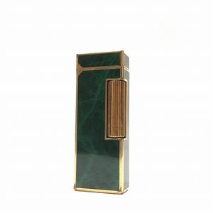 ○美品 ダンヒル dunhill USRE24165 PATENTED スイス製 お洒落 ライダー 緑 ゴールド J6-023