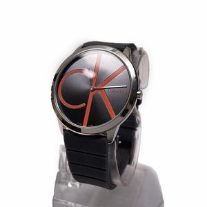 ○超美品 カルバン クライン Calvin Klein お洒落 腕時計 グレー K3M 211 00 AR01V スイス製 J15-004