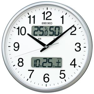 最落1円 訳あり品 みやすい直径35㎝ 電池寿命5年 セイコー 電波掛時計 定価12,000円 KX235S グリーン購入法適合