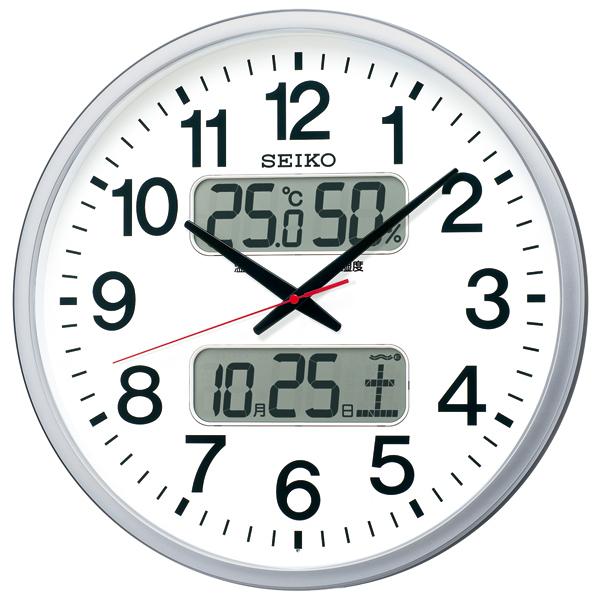 最落1円 訳あり品 セイコー 大きな電波掛時計 Wカレンダー ビックサイズ直径50センチ  定価20,000円 KX237S