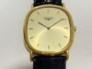 【1円スタート】 【不動】 LONGINES ロンジン 純正ベルト 革ベルト クォーツ メンズ 腕時計 アンティーク ヴィンテージ