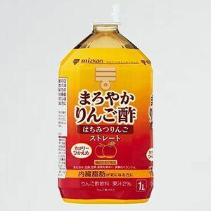 未使用 新品 まろやかりんご酢 ミツカン J-2F 1000ml×6本 機能性表示食品 はちみつりんご ストレ-ト