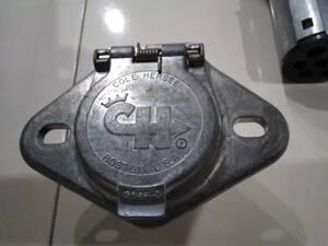 牽引 7極 7ピン 接合 カプラー 電極配線 ヒッチ プラグ ソケット※車両側のみ