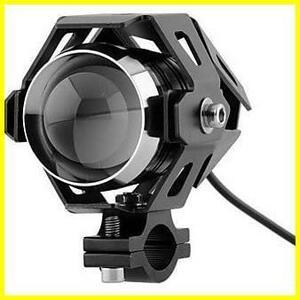 Szmsmyオートバイ125W CREE U5 LEDドライビングフォグヘッドスポットライトホワイトランプヘッドライト(ブラック)