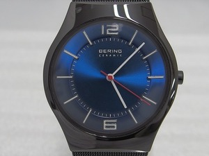 ベーリング BERING ウルトラ スリム セラミック メンズ クォーツ 腕時計 ブラック×ブルー 32039-447