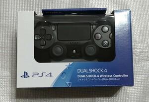 美品 ワイヤレスコントローラー デュアルショック4 DUALSHOCK4 PS4 コントローラー ブラック × 新品