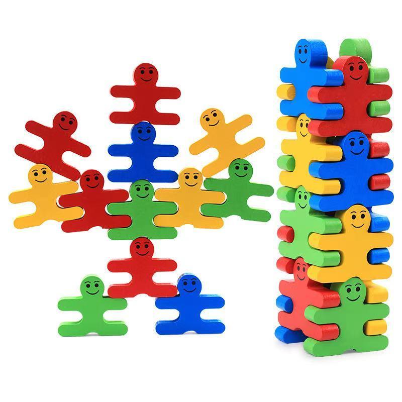 木製 知育 指先訓練 色の認識 積み木 木のおもちゃ 木製パズル