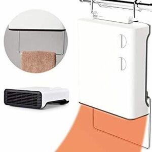 2) コンパクトサイズ 脱衣所ヒーター 壁掛け タオル掛け付き 防水 浴室暖房 衣類乾燥 1000W [冬のヒートショック対