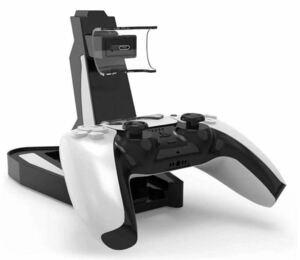 PS5コントローラー充電スタンド USB給電式 ブラック