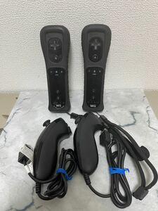 wiiコントローラーセット 黒 Wiiリモコンプラス ブラック 任天堂 純正品