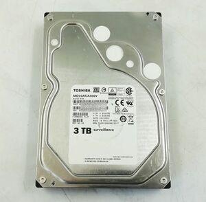 TOSHIBA MD03ACA300V 3.5インチ HDD SATA 3TB(使用時間26460) 即日発送 一週間返品保証【H21100918】