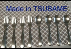 made in tsubame ツバメ8本セット フォーク小&スプーン小