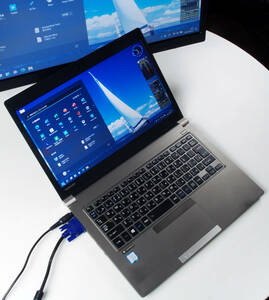 dynabook R63/J Core i5-8250U Mem16GB 新NVMeSSD512GB Webカメラ Win11Pro64bit Ver.21H2 薄型爆速 バッテリー良好