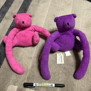 新品 くま ぬいぐるみ テディベア eurobear ピンク 紫 bear 人形 まとめて レア ビンテージ アンティーク インテリア オブジェ