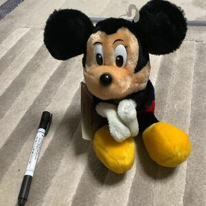 レア くっつきぬいぐるみ ミッキーマウス ぬいぐるみ レトロ ビンテージ アンティーク Mickey mouth エポック ディズニー 新品