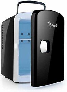 03ブラック AstroAI 冷蔵庫 小型 ミニ冷蔵庫 小型冷蔵庫 保温 冷温庫 4L 無負荷2-60°C ポータブル